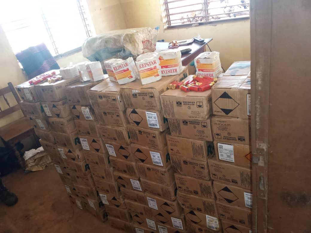 Des munitions d'arme à feu découverts à Bantè