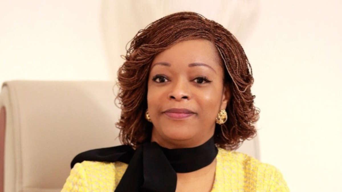Réckya Madougou, ancienne ministre de la justice, candidate recalée à la présidentielle du 11 avril 2021