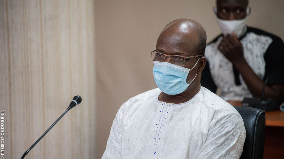 Raphaël Akotègnon, ministre de la Décentralisation et de la gouvernance locale