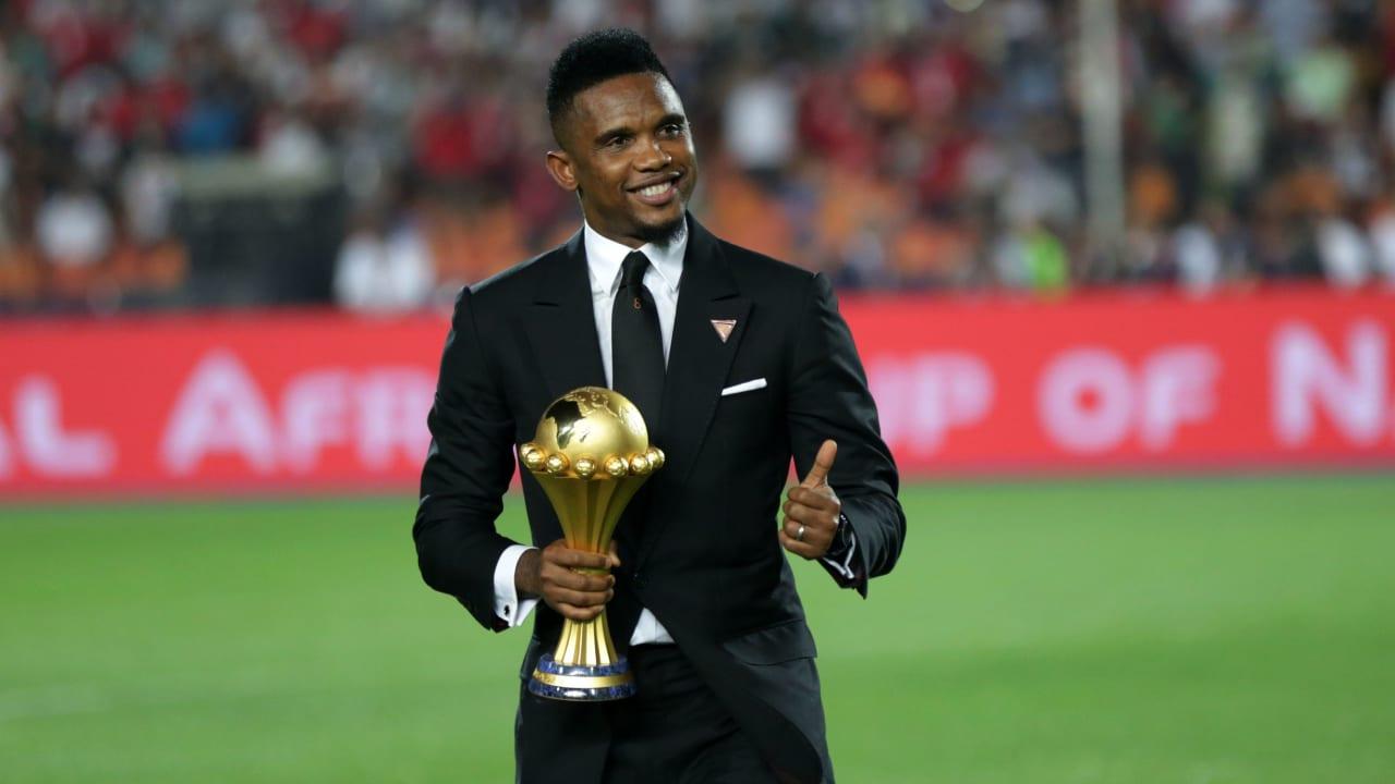 La légende camerounaise Samuel Eto'o,