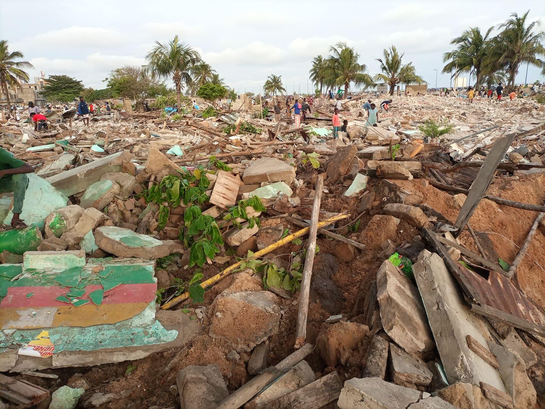 Opération de déguerpissement au quartier Fiyégnon 1 à Cotonou