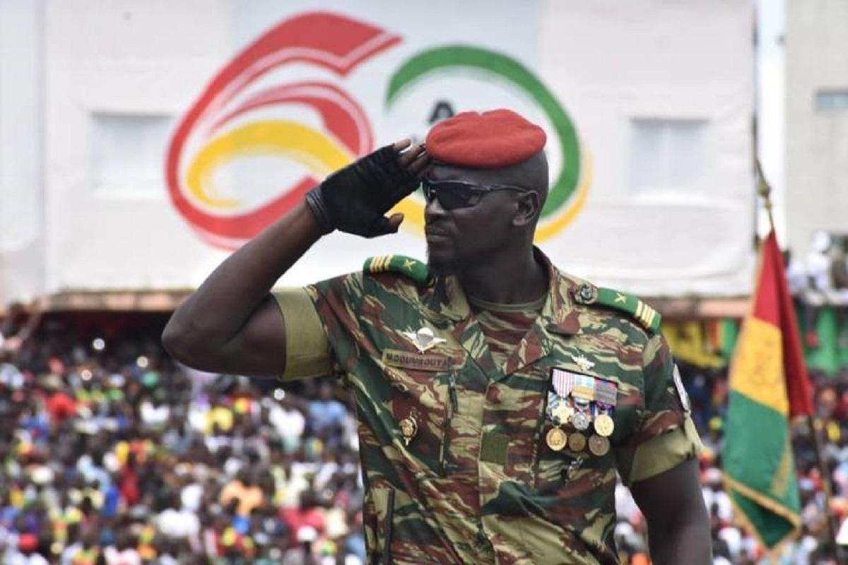 Le colonel Mamady Doumbouya, commandant du Groupement des forces spéciales (GPS)