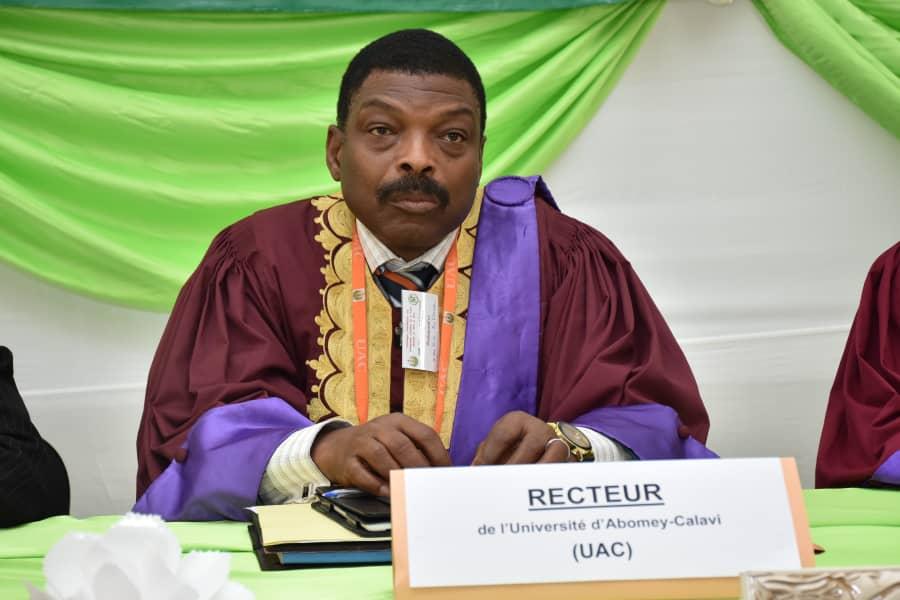 Félicien Avlessi, Professeur titulaire de Chimie organique, recteur de l'Université d'Abomey-Calavi, nommé ce mercredi 13 octobre 2021